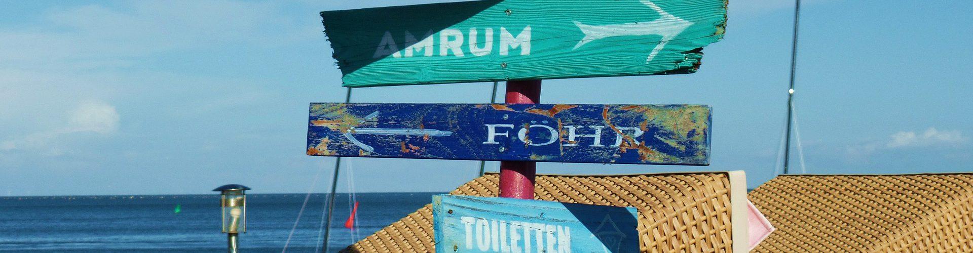 Strandwegweiser in Hörnum aus Sylt